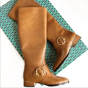 Tory Burch Sofia Riding Boots In Festival Brown 6